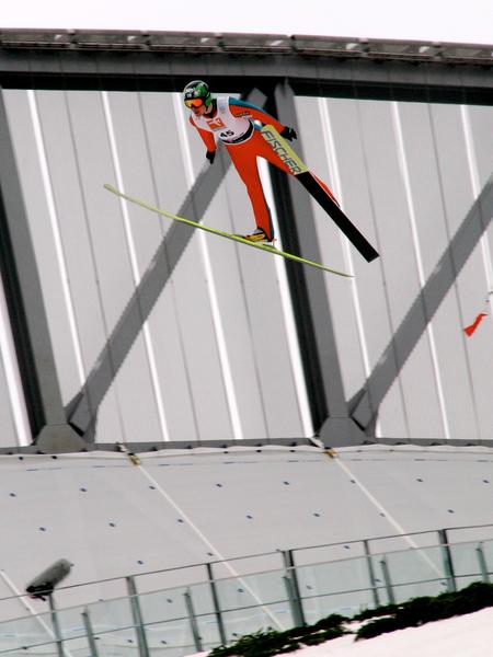 Zitterbalken Skispringen