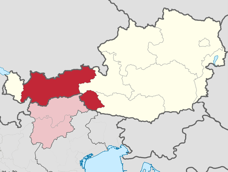 Sudtirol Karte Osterreich Italien.Tirol